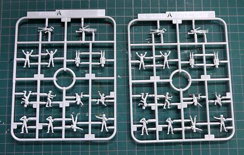 1/100 MSフィギュア01 ビルダーズパーツHD プラモデル サンプル製作レビュー タギミ