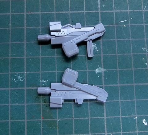 CW ドットガトリングガン / CW J3ビームマシンガン LBX カスタムウェポン 18 サンプル製作レビュー プラモデル ダンボール戦機 タギミ