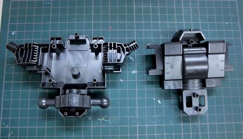 ライディングアーマー 格闘装備 ジェノック サンプル製作レビュー プラモデル ダンボール戦機WARS タギミ