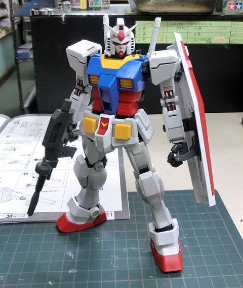 MG 1/100 RX-78-2 ガンダム Ver.3.0 プラモデル サンプル製作レビュー タギミ