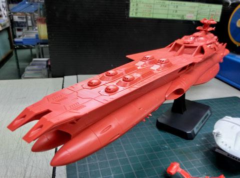1/1000 ゲルバデス級航宙戦闘母艦 ダロルド プラモデル サンプル製作レビュー タギミ