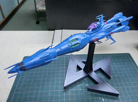 1/1000 独立戦闘指揮艦 デウスーラII世 コアシップ プラモデル サンプル製作レビュー タギミ