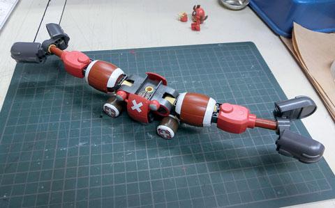 チョッパーロボ5号 チョッパークレーン プラモデル サンプル製作レビュー タギミ