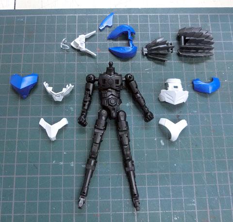 BF シャークボーン プラモデル サンプル製作レビュー タギミ