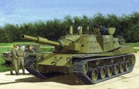 1/35 アメリカ/西ドイツ MBT-70(Kpz.70)試作戦車 プラモデル プラッツ サイバーホビー タギミ