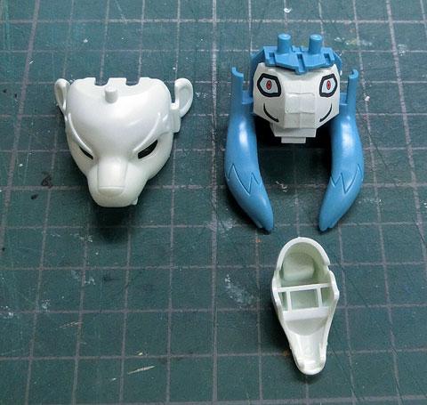 万尾獅子 まんおじし プラモデル サンプル製作レビュー タギミ