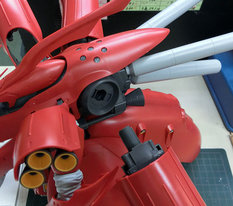 RE/100 1/100 MSN-04II ナイチンゲール プラモデル サンプル製作レビュー タギミ