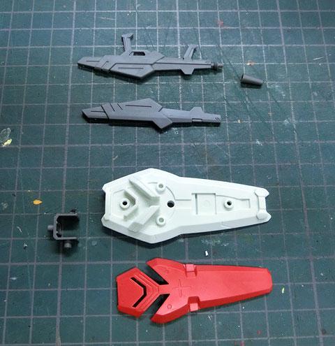 HG 1/144 ガンダム G-セルフ用オプションユニット 宇宙用パック プラモデル サンプル製作レビュー タギミ
