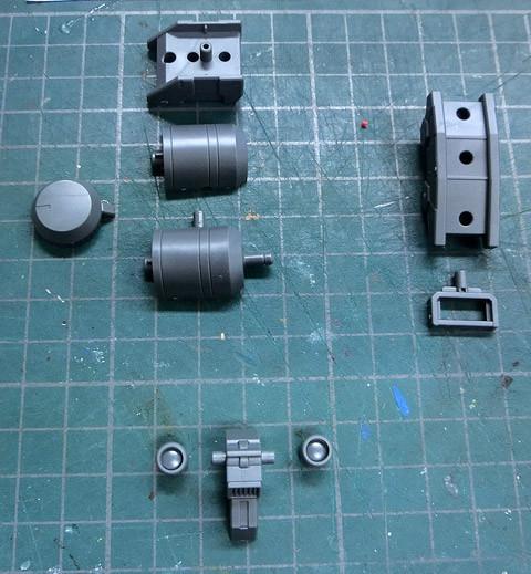 HGBC 1/144 ジャイアントガトリング プラモデル サンプル製作レビュー タギミ