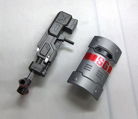 LBXカスタムウェポン012 CWAMライフル44式 CWクレセントムーン CWスクウェアガード プラモデル ダンボール戦機 バンダイ