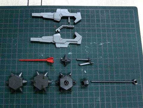 LBXカスタムウェポン014 プラモデル サンプル製作レビュー CWシューターSR33 CWバルキリーレイピア CWカブトハンマー ダンボール戦機 バンダイ