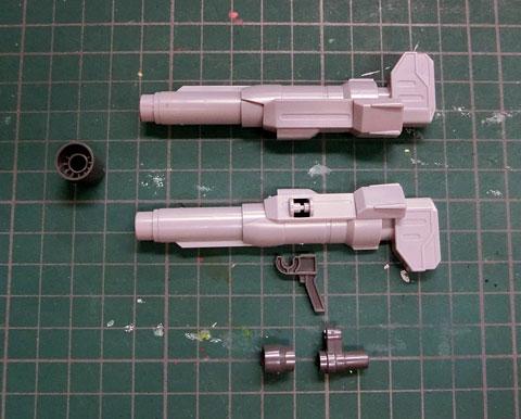LBXカスタムウェポン015 サンプル製作レビュー プラモデル CWマシンランチャー CW斬馬刀 CWレッドホークX2 ダンボール戦機 バンダイ