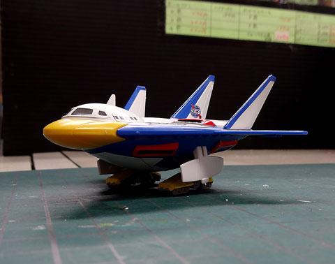 ダックシャトル改&イナズマTMキャラバン プラモデル サンプル製作レビュー タギミ