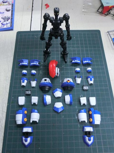 ハイパーファンクション LBX アキレス & AX-00 プラモデル サンプル製作レビュー ダンボール戦機 バンダイ