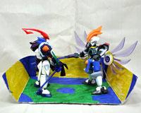 No.07 最強エルシオンC(カスタム) VS 最強ペルセウスC(カスタム) 第2回 ダンボール戦機LBXプラモデルコンテスト