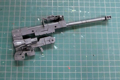 M.S.G ヘヴィウェポンユニット 01 ストロングライフル プラモデル サンプル製作レビュー タギミ